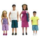 Poppenfamilie-in-strandkleding
