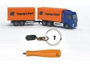 "0621 MAN vrachtwagen sleutelhanger set ""Hapag-Lloyd""."