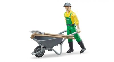 62610 B-World Bruder Figurenset boer + accessoires (4-delig)